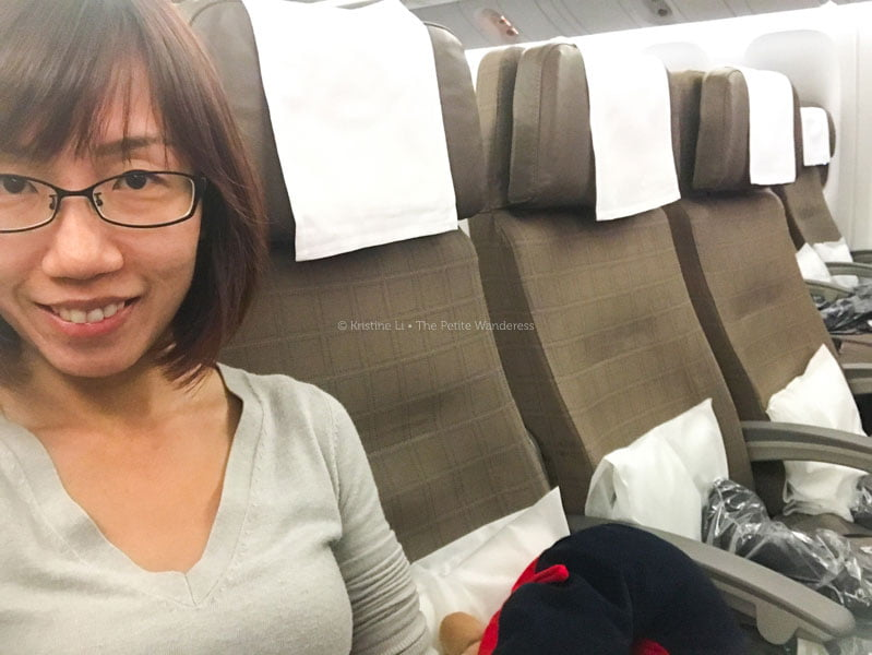 4 seats to myself! | Flying Swiss Airlines to Scandinavia • The Petite Wanderess