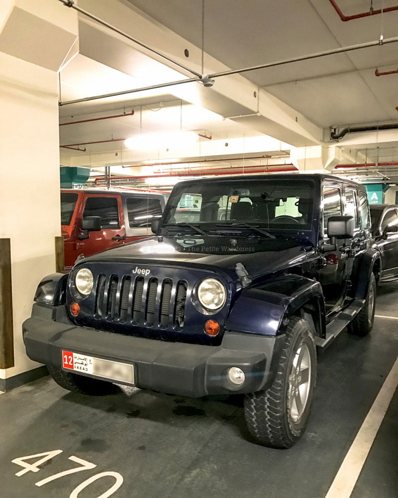 jeep in Abu Dhabi • First impressions visiting Abu Dhabi