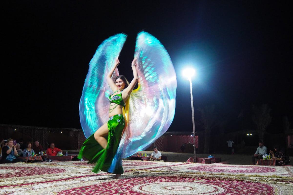 belly dancer   Abu Dhabi desert safari review • The Petite Wanderess