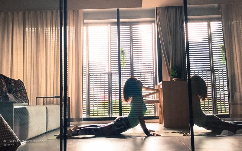 upward facing dog yoga pose | Bangkok Travelogue: Ten Days Solo in the Land of Smiles •The Petite Wanderess