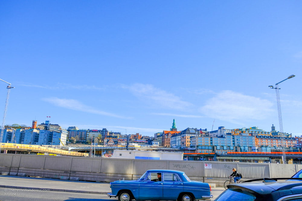 retro car at Slussen, Stockholm   Stockholm in 48 Hours • The Petite Wanderess